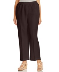 Alfred Dunner Plus Size Pull On Straight Leg Pants
