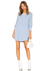 525 America Raglan Sleeve Sweater Dress Baby Blue