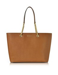 Michael Kors Jet Set Travel Chain Medium Luggage T Z Saffiano Leather Multifunction Tote Brown