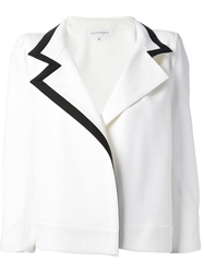 Courreges Contrast Trim Blazer White