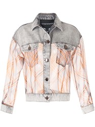 Emporio Armani Contrast Sheer Denim Jacket 60
