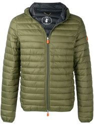 Save The Duck Classic Padded Jacket Green