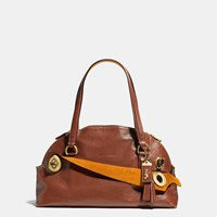 Coach 1941 Outlaw Satchel In Grain Leather Brass Brown