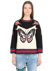 Gucci Patches And Studs Cotton Sweatshirt