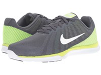 Nike In Season Tr 6 Dark Grey White Blue Cap Green Glow Women's Cross Training Shoes Gray
