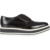 Prada Wingtip Brogue Platform Sneakers Black
