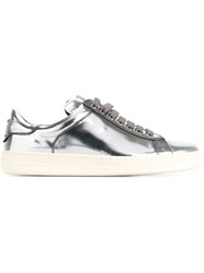 Tom Ford Lace Up Sneakers Metallic