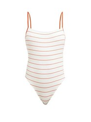 Solid And Striped Chelsea Striped Swimsuit White Stripe