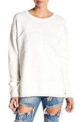 One Teaspoon Classic Chunky Knit Pullover Sweater White