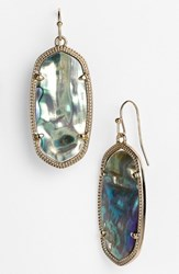 Women's Kendra Scott 'Elle' Drop Earrings Abalone Shell Gold