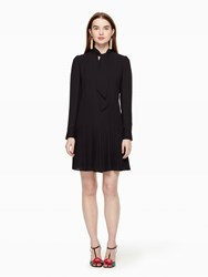 Kate Spade Pleated Georgette Dress Black