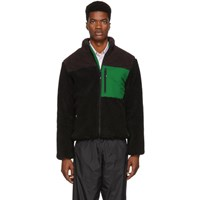 Kenzo Black Down Faux Shearling Jacket