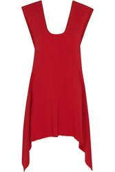 Marni Asymmetric Stretch Cady Tunic Red