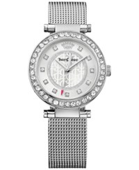Juicy Couture Women's Cali Stainless Steel Mesh Bracelet Watch 34Mm 1901372 Silver