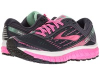 Brooks Ghost 9 Peacoat Navy Knockout Pink Spring Bud Women's Running Shoes Black