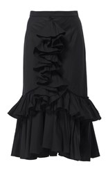 Tome Ruffled Mermaid Skirt Black