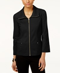 Jm Collection Zip Front Jacket Only At Macy's Deep Black