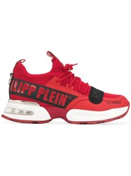Philipp Plein Chunky Low Top Trainers Red