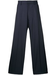 E. Tautz Wide Leg Trousers Blue