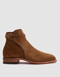 R.M. Williams Suede Buckle Boot In Tobacco