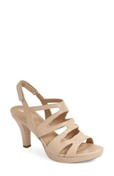 Women's Naturalizer 'Pressley' Slingback Platform Sandal Taupe Leather