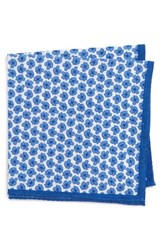 Calibrate Men's Tossed Flower Cotton Pocket Square