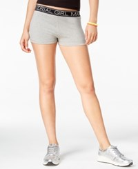 Material Girl Active Juniors' Pull On Shorts Only At Macy's Heather Platinum