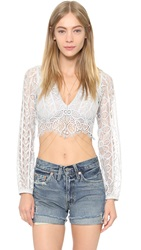 For Love And Lemons Lyla Crop Top Silver