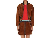 3.1 Phillip Lim Women's Suede Bomber Jacket Brown