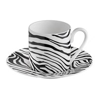 Roberto Cavalli Zebrage Coffee Cup And Saucer Set Of 6