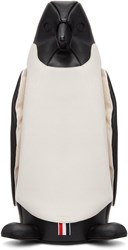 Thom Browne Black And White Penguin Tote