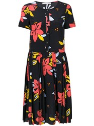 Chinti And Parker Hibiscus Print Dress Blue