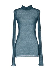 Kristina Ti Knitwear Long Sleeve Jumpers Women Deep Jade