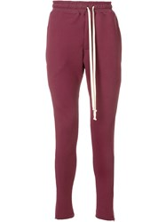 Represent Slim Fit Track Trousers Red