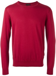 Z Zegna Crew Neck Jumper Red
