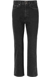 Agolde Pinch Waist High Rise Flared Jeans Black