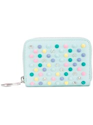 Christian Louboutin Studded Coin Purse Green