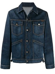 Tom Ford Boxy Fit Denim Jacket Blue