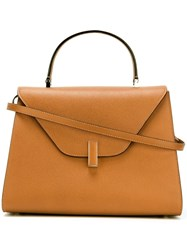 Valextra Large 'Iside' Tote Bag Brown