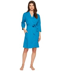 Jockey Cotton Essentials Robe Teal Women's Robe Blue