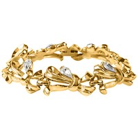 Susan Caplan Vintage 1960S Trifari Gold Plated Ribbon And Crystal Bracelet Gold