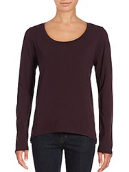 Joe's Jeans Letty Cross Back Long Sleeve Top Jet Black
