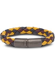 Prada Braided Wrist Bracelet Multicolour
