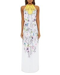 Ted Baker Passion Flower Maxi Dress Yellow