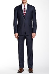 Todd Snyder Solid Blue Two Button Notch Collar Wool Suit