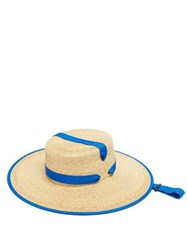 Lola Hats Zorro Wide Brim Straw Hat Blue