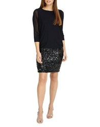 Phase Eight Geonna Sequin Knitted Dress Midnight