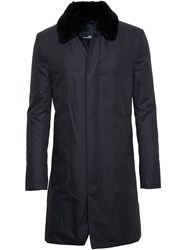 Yves Salomon Fur Lined Mac Black