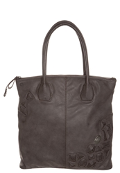 Replay Tote Bag Brown Stone Washed Taupe