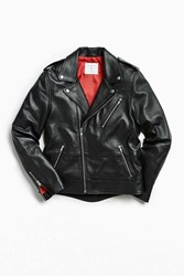Urban Outfitters Uo Leather Moto Jacket Black
